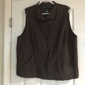 Eileen Fisher 100% Silk Vest